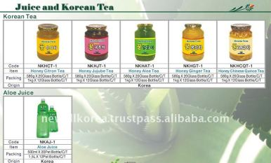 Juice_and_Korean_Tea